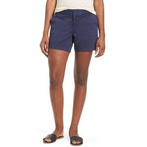 Caslon NWT Cotton Blend Twill Shorts In navy 6